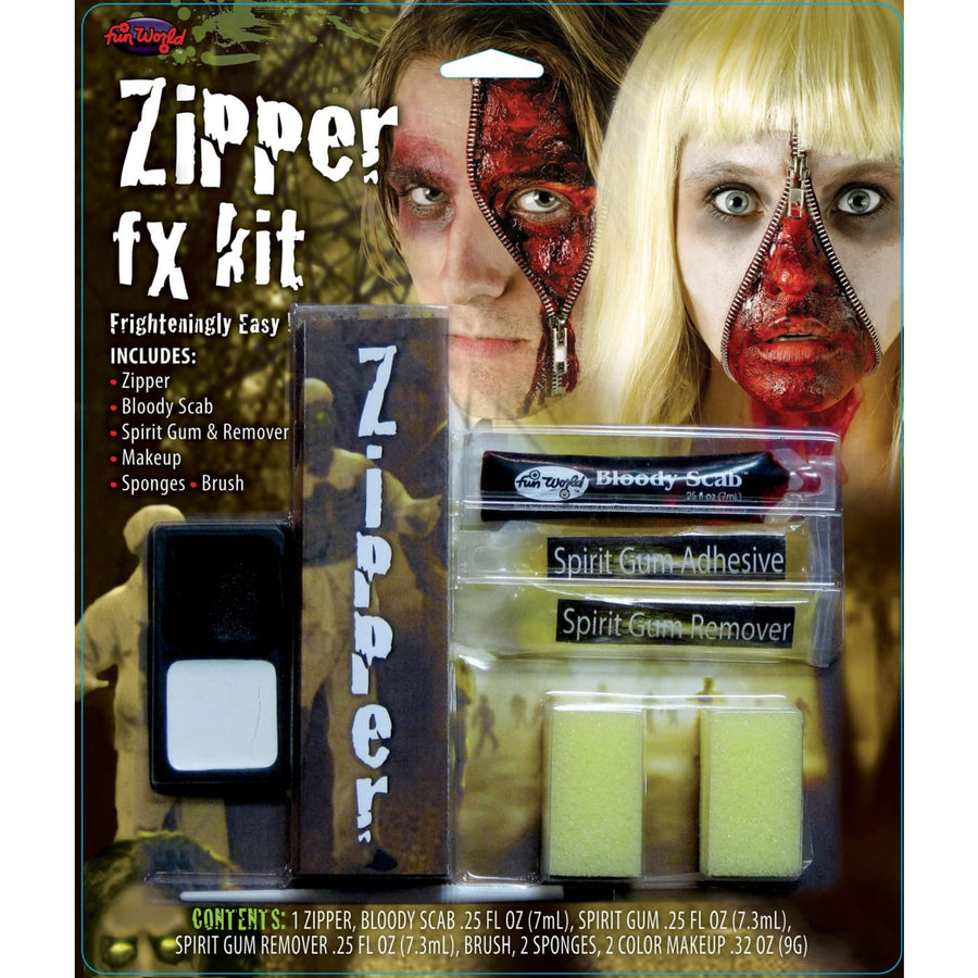 Zipper Fx Makeup Kit - Costume Makeup Ghoul Skeleton & Zombie Costume Halloween
