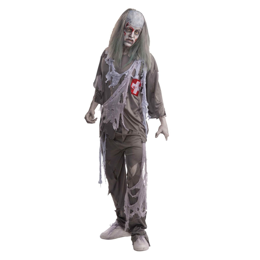Zombie Doctor Boys Costume - Costume Makeup Ghoul Skeleton & Zombie Costume