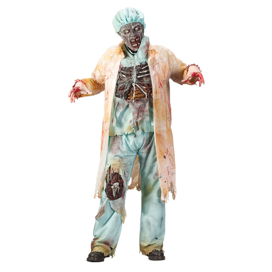 Zombie Doctor Plus Sz - adult halloween costumes halloween costumes male