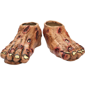 Zombie Flesh Latex Feet - Ghoul Skeleton & Zombie Costume Halloween costumes