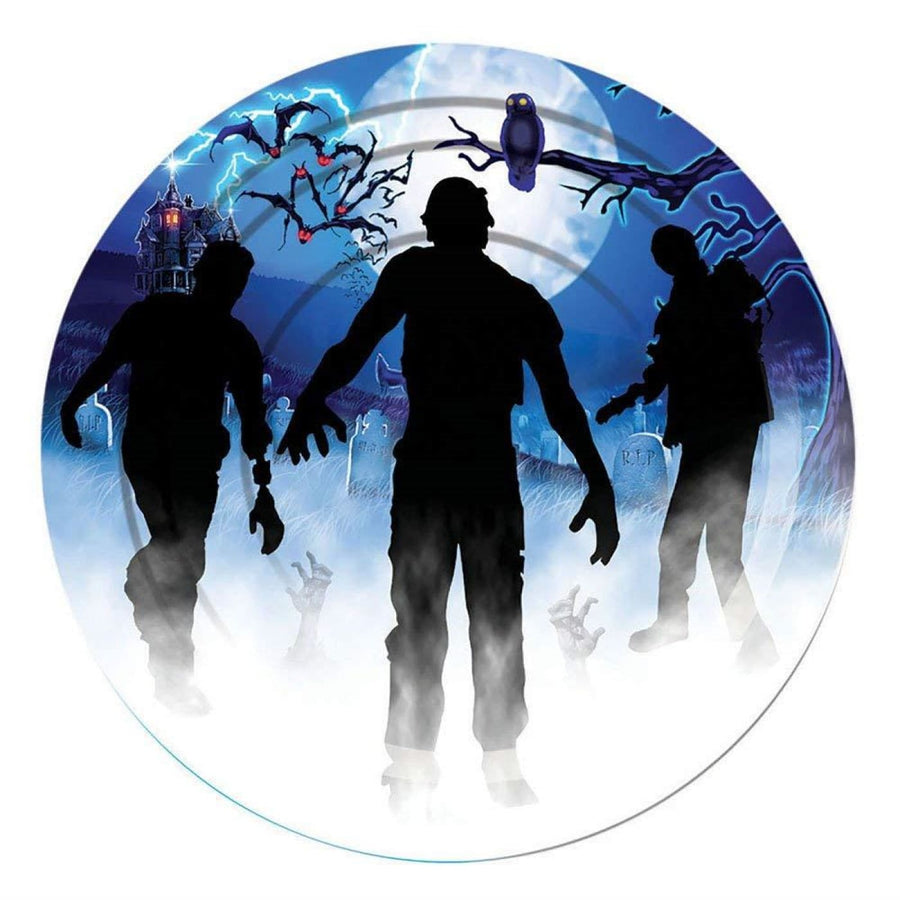 Zombie Party 9 Inch Plates -Set of 8 - Halloween costumes New Costume