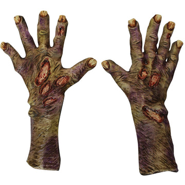 Zombie Rotted Lg Latex Gloves - Ghoul Skeleton & Zombie Costume Halloween