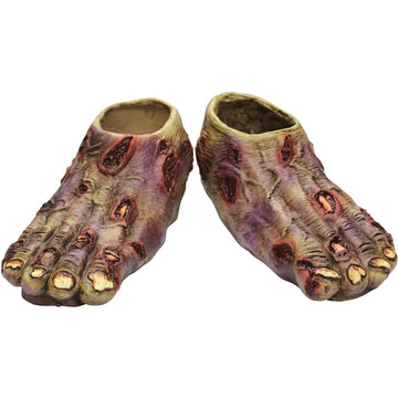 Zombie Undead Latex Feet - Ghoul Skeleton & Zombie Costume Halloween costumes