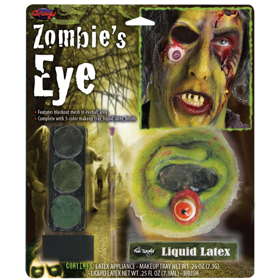 Zombies Eyes Makeup Kit - Costume Makeup Ghoul Skeleton & Zombie Costume
