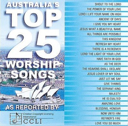 Australia's Top 25 Worship Songs - As Reported By CCLI - KI Gifts Christian Supplies