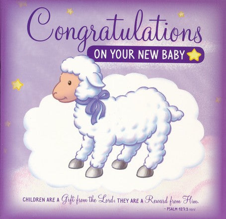 Congratulations on Your New Baby Greeting Card/CD: Sweet Instrumental Lullabies and Bible Songs - KI Gifts Christian Supplies