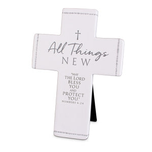 Cast Stone Cross - All Things New