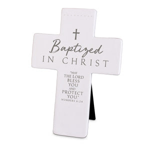Cast Stone Cross - Baptized In Christ