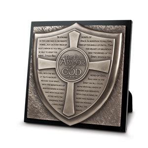 Moments Of Faith Sculpture Plaque - Full Armor of God