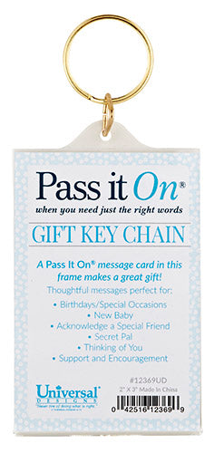 Pass It On Acrylic Key Chain - KI Gifts Christian Supplies