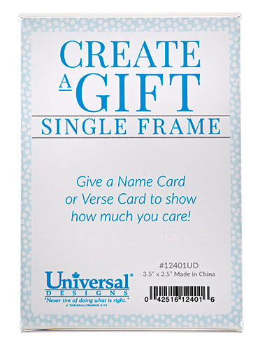 NTR & Verse Card Single Frame - KI Gifts Christian Supplies