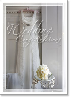 Wedding Day: Hanging Wedding Gown