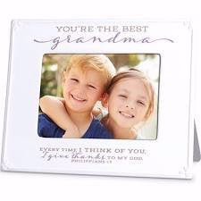 Ceramic Frame - Grandma (Scripture Blessings)