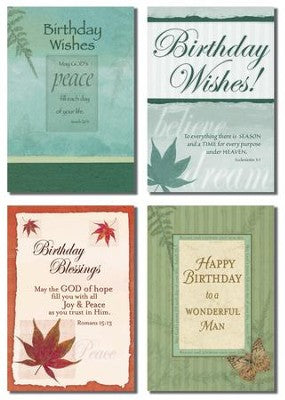 Birthday For Him Card Assortment (12 Boxed Cards)