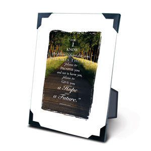 The Path 5 X 7 Plaque With Corner Clips - KI Gifts Christian Supplies