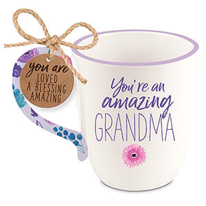 Ceramic Mug-Touch of Floral-Amazing Grandma