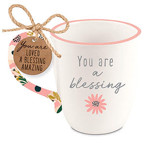 Ceramic Mug-Touch of Floral-Amazing Blessing