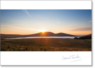 Blank - Sunset Over Mourne Mountains - KI Gifts Christian Supplies