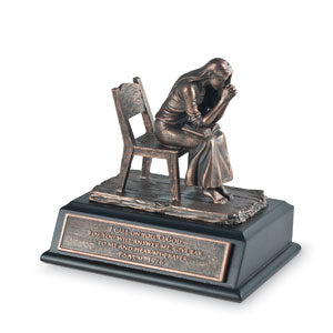 Praying Woman Moments Of Faith Small Sculpture - KI Gifts Christian Supplies