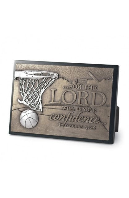 Basketball Moments Of Faith Small Sculpture Plaque