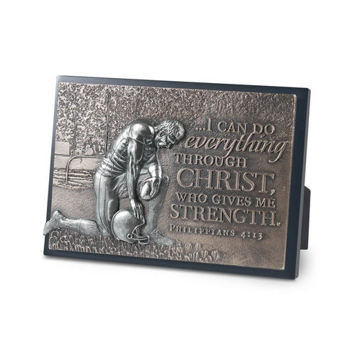 Football Small Moments Of Faith Sculpture Plaque