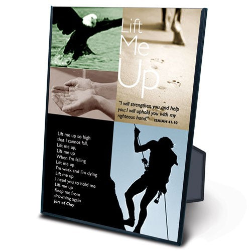 Lift Me Up 5 X 7 Plaque - KI Gifts Christian Supplies