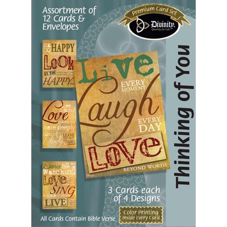 Thinking of You Assortment : Live Laugh Love (12 Boxed Cards)