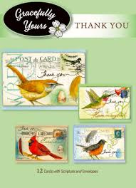 Thank You Card Assortment - Pretty Birds (12 Boxed Cards)