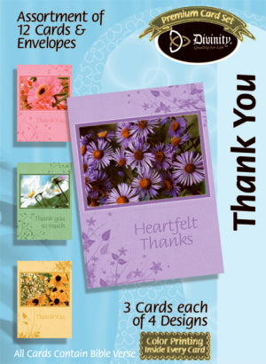 Thank You Assortment (Box of 12 Cards)