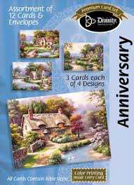 Anniversary Card Assortment Cottages (12 Boxed Cards)