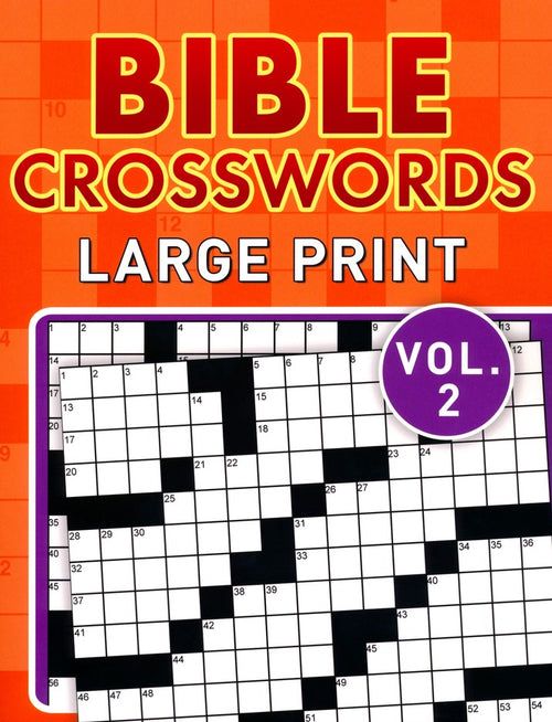 Bible Crosswords, Large Print Vol. 2 - KI Gifts Christian Supplies