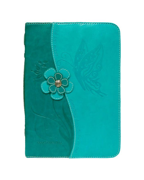 Bible Cover: Teal Blue Butterfly