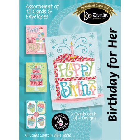 Birthday for Her, Birthday Sweets (12 Boxed Cards)