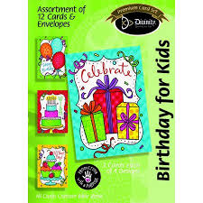 Birthday for Kids, Bright Confetti (12 Boxed Cards)