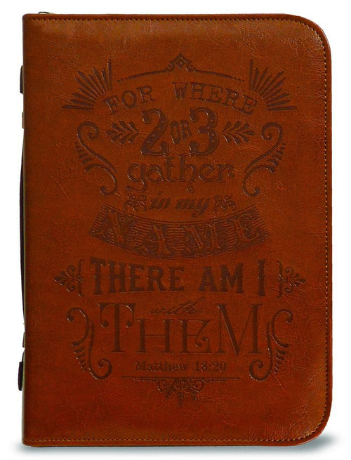Bible Cover: For Where 2 or 3 Gather