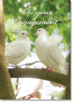 On Your Engagement - Two Doves (order in 6)