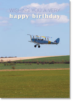 Happy Birthday : Tiger Moth biplane