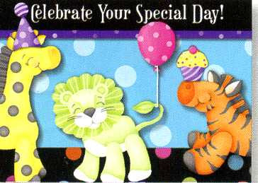 Greeting Card - Pack of 6 Birthday - Lion - KI Gifts Christian Supplies