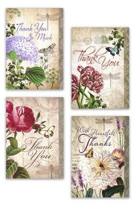 Thank you, Vintage Florals (12 Boxed Cards)