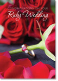 Ruby Anniversary :Red roses and ring (order in 6)