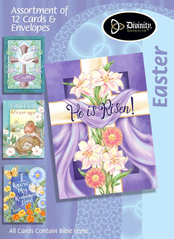 easter assortment  he is risen 12 boxed cards  ki gifts