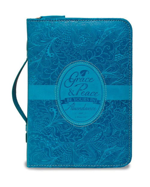 Bible Cover: Blue Grace and Peace 1 Peter 1:2
