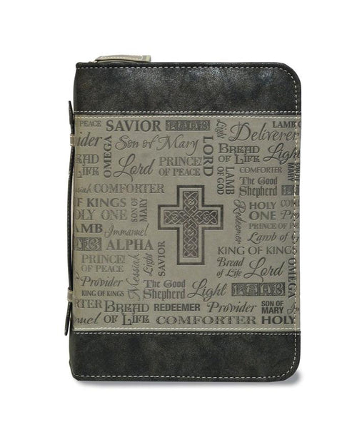 Bible Cover: Black and Gray Names of God