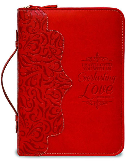 Bible Cover: Red Everlasting Love Jeremiah 31:3