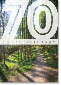 Happy Birthday :Woodland Paths 70th (order in 6)