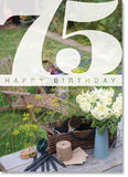 Happy Birthday :Gardening table 75th (order in 6)