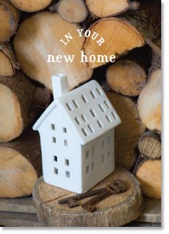 New Home :  White Cottage Ornament (order in 6)