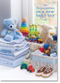 New Baby :  Blue Nursery Toys (order in 6)