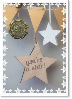 Congratulations : Medal and Stars (order in 6)