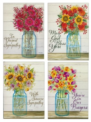 Sympathy - Flowers in Glass (12 Boxed Cards)